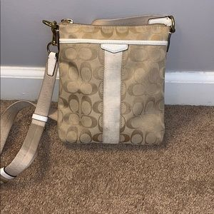 Tan Coach crossbody